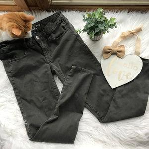 American Eagle Olive AEO Sateen Skinny Jeans 6R